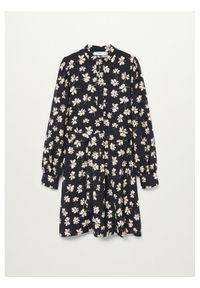 Czarna sukienka mango koszulowa