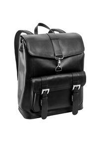 MCKLEIN - Ekskluzywny skórzany plecak męski McKlein Hagen 88025 czarny. Kolor: czarny. Materiał: skóra