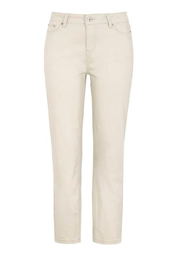 Beżowe jeansy Cellbes w kolorowe wzory