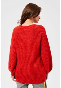 Sweter MOODO długi, z długim rękawem