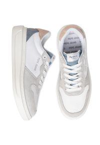 Białe buty sportowe Pepe Jeans z cholewką, na co dzień