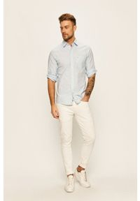 Białe jeansy Pepe Jeans z aplikacjami