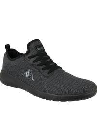 Czarne sneakersy Kappa z cholewką, w kolorowe wzory