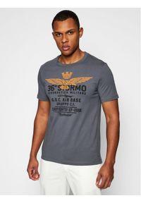 Aeronautica Militare T-Shirt 211TS1867J492 Szary Regular Fit. Kolor: szary