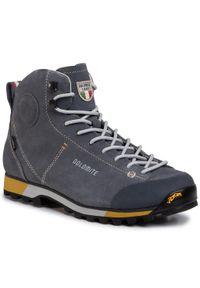 Szare buty trekkingowe Dolomite trekkingowe, Gore-Tex, z cholewką