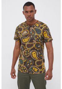 The North Face - T-shirt bawełniany. Okazja: na co dzień. Kolor: brązowy. Materiał: bawełna. Wzór: nadruk. Styl: casual
