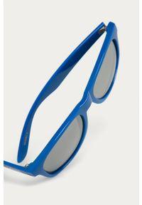 Niebieskie okulary przeciwsłoneczne Vans prostokątne