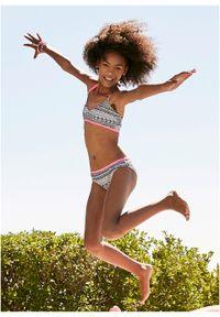 Bikini dziewczęce (2 części) bonprix czarno-biało-różowy. Kolor: czarny #3