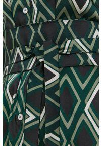 Marella - Sukienka. Okazja: na co dzień. Kolor: zielony. Materiał: tkanina, włókno. Typ sukienki: proste. Styl: casual
