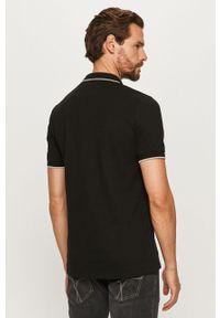 Czarna koszulka polo Guess Jeans krótka, polo