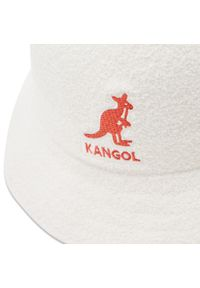 Kangol - Kapelusz KANGOL - Bucket Big Logo Casual K3407 White WH103. Kolor: biały. Materiał: materiał, poliester, nylon, akryl. Styl: casual #5