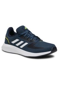 Niebieskie półbuty Adidas casualowe, z cholewką