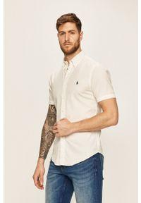 Polo Ralph Lauren - Koszula. Typ kołnierza: polo. Kolor: biały. Materiał: tkanina. Wzór: gładki