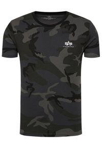 Alpha Industries T-Shirt Basic T Small Logo Camo 188505C Szary Regular Fit. Kolor: szary