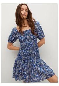 mango - Mango Sukienka letnia Cruise 87028633 Niebieski Slim Fit. Kolor: niebieski. Sezon: lato