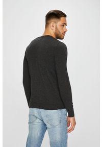 Szary sweter Jack & Jones na co dzień, casualowy