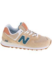Beżowe sneakersy New Balance z cholewką