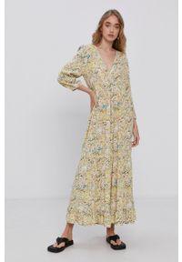 Y.A.S - Sukienka. Materiał: tkanina, wiskoza, materiał. Długość rękawa: na ramiączkach. Typ sukienki: rozkloszowane