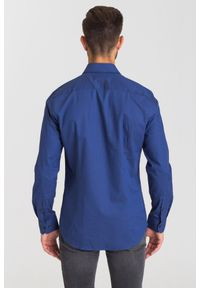 Niebieska koszula Joop! Collection na co dzień, biznesowa, na lato