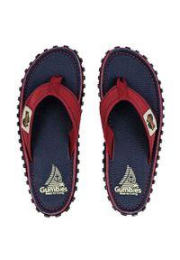 Gumbies - Japonki. Nosek buta: okrągły. Kolor: niebieski. Materiał: bawełna, materiał, guma. Wzór: gładki