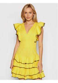 Rage Age Sukienka letnia Freesia 3 Żółty Slim Fit. Kolor: żółty. Sezon: lato
