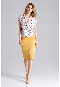 Żółta spódnica ołówkowa Figl