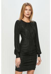 Czarna sukienka Jacqueline de Yong z długim rękawem, mini, dopasowana
