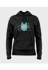 MegaKoszulki - Bluza damska z kapturem Planeta Kot. Typ kołnierza: kaptur