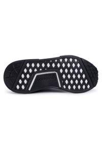 Czarne buty sportowe Adidas na płaskiej podeszwie, Adidas NMD