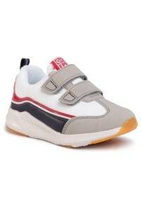 Gioseppo - Sneakersy GIOSEPPO - Viserba 59044 White. Okazja: na spacer, na co dzień. Zapięcie: rzepy. Kolor: biały. Materiał: skóra, skóra ekologiczna, materiał. Szerokość cholewki: normalna. Styl: casual