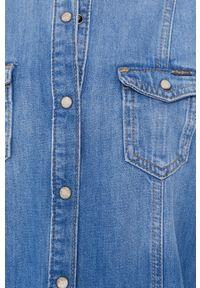 Pepe Jeans - Sukienka jeansowa Holly. Okazja: na co dzień. Kolor: niebieski. Materiał: denim. Długość rękawa: krótki rękaw. Typ sukienki: proste. Styl: casual