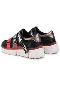 Czarne buty sportowe My Twin do biegania, z aplikacjami, z cholewką