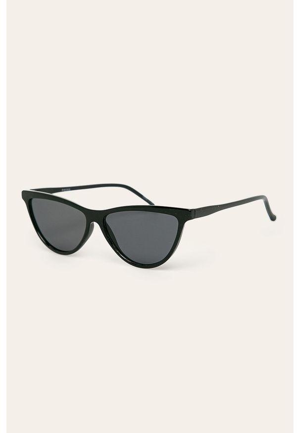 Czarne okulary przeciwsłoneczne Pieces