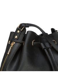 Czarna torebka worek Wittchen na ramię, duża