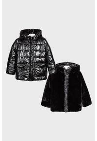 Czarna kurtka Mayoral z kapturem, casualowa, na co dzień