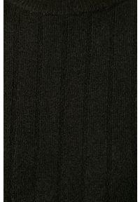 Vero Moda - Sweter. Okazja: na co dzień. Kolor: czarny. Materiał: dzianina. Długość rękawa: długi rękaw. Długość: długie. Wzór: ze splotem. Styl: casual