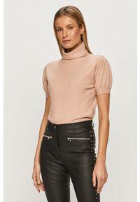 Różowy sweter Silvian Heach na co dzień, z krótkim rękawem