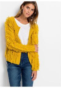 Żółty sweter bonprix z długim rękawem, długi