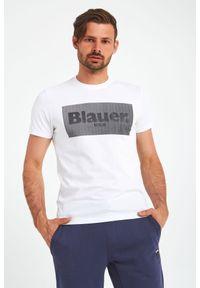 Blauer - T-SHIRT BLAUER. Materiał: bawełna, jersey. Wzór: nadruk