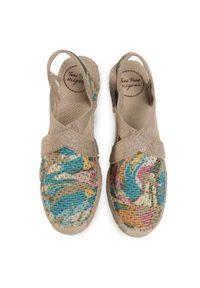 Beżowe sandały Toni Pons na średnim obcasie, na obcasie, na co dzień