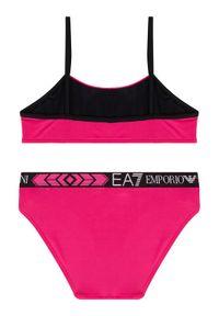 Różowy strój dwuczęściowy EA7 Emporio Armani