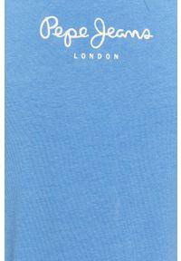 Pepe Jeans - T-shirt NEW VIRGINIA. Okazja: na co dzień. Kolor: niebieski. Wzór: nadruk. Styl: casual