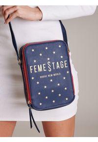 Niebieska torebka FEMESTAGE Eva Minge z aplikacjami, zdobiona #1