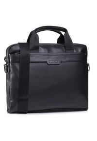 Czarna torba na laptopa Hugo