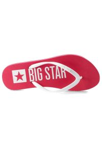 Big-Star - Japonki BIG STAR FF274A318 Fuksja. Okazja: na spacer, na plażę. Kolor: różowy. Wzór: napisy. Sezon: lato