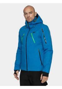Niebieska kurtka narciarska 4f na zimę, Dermizax