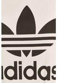 Biała bluzka adidas Originals z okrągłym kołnierzem, casualowa