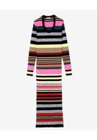 Szara sukienka Kenzo z długim rękawem, midi