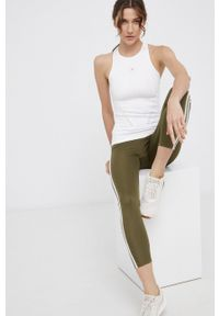 Adidas by Stella McCartney - adidas by Stella McCartney - Top. Kolor: beżowy. Materiał: dzianina. Wzór: gładki