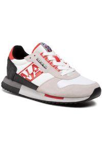 Napapijri - Sneakersy NAPAPIJRI - Virtus NP0A4FJZK White/Red Multi. Okazja: na co dzień. Kolor: wielokolorowy, biały, beżowy. Materiał: zamsz, materiał, skóra. Szerokość cholewki: normalna. Styl: casual, klasyczny, elegancki